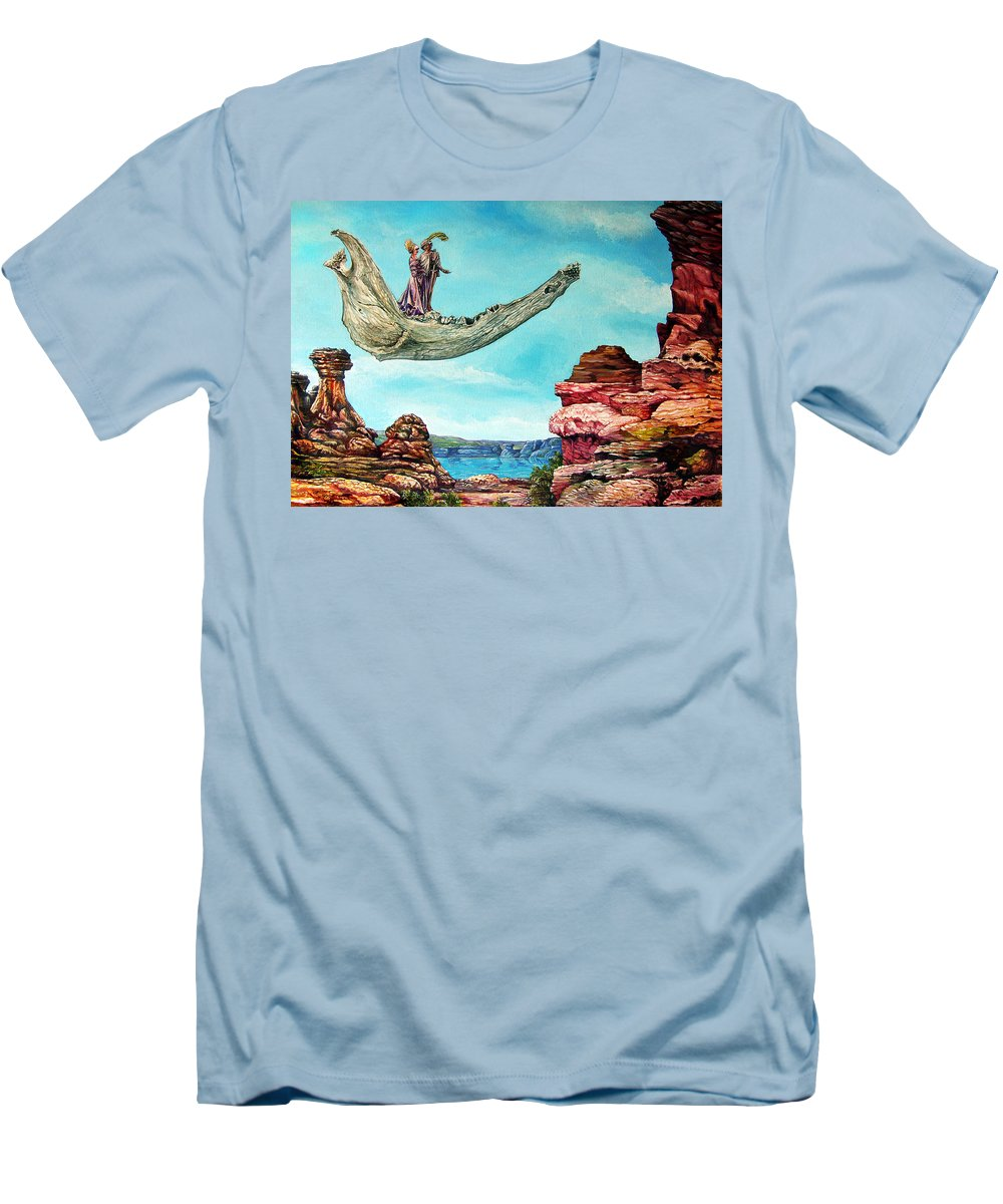 Painting Men's T-Shirt (Athletic Fit) featuring the painting Bogomils Journey by Otto Rapp