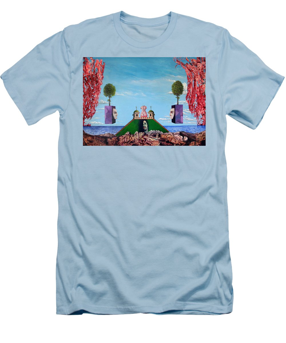 Painting Men's T-Shirt (Athletic Fit) featuring the painting Bogomils Monastic Retreat by Otto Rapp