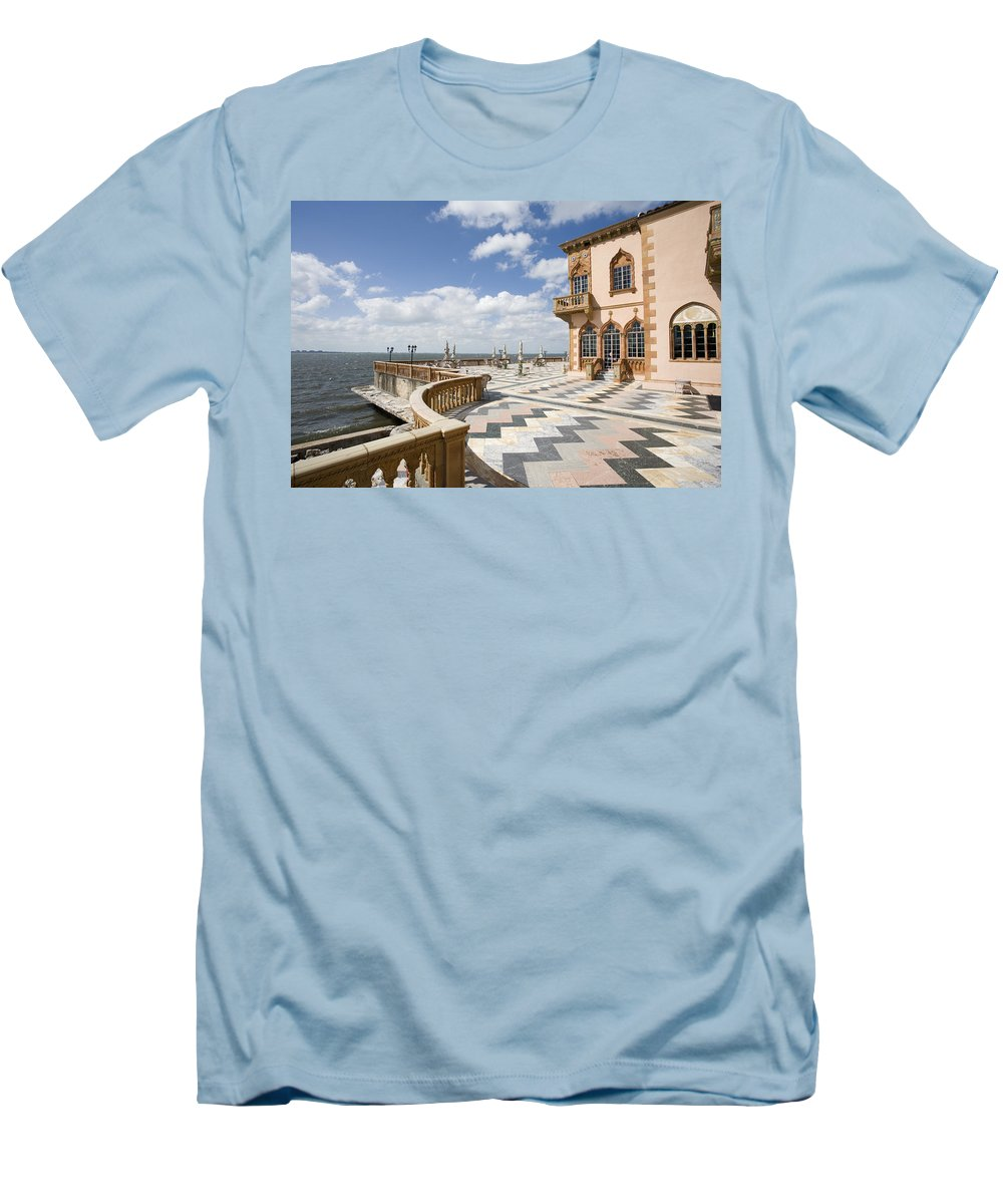 Ringling Men's T-Shirt (Athletic Fit) featuring the photograph Ca D'zan Mansion Sarasota by Mal Bray