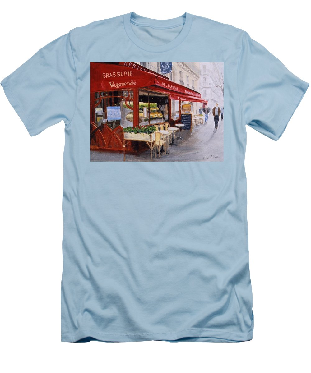 Cafe Men's T-Shirt (Athletic Fit) featuring the painting Cafe 4 by Jay Johnson