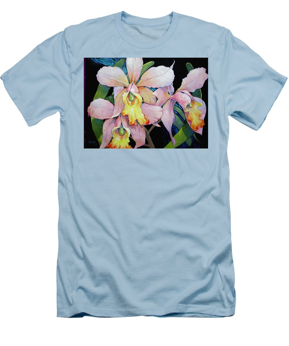 Catalya Men's T-Shirt (Athletic Fit) featuring the painting Catalya Arrangement by Jerrold Carton