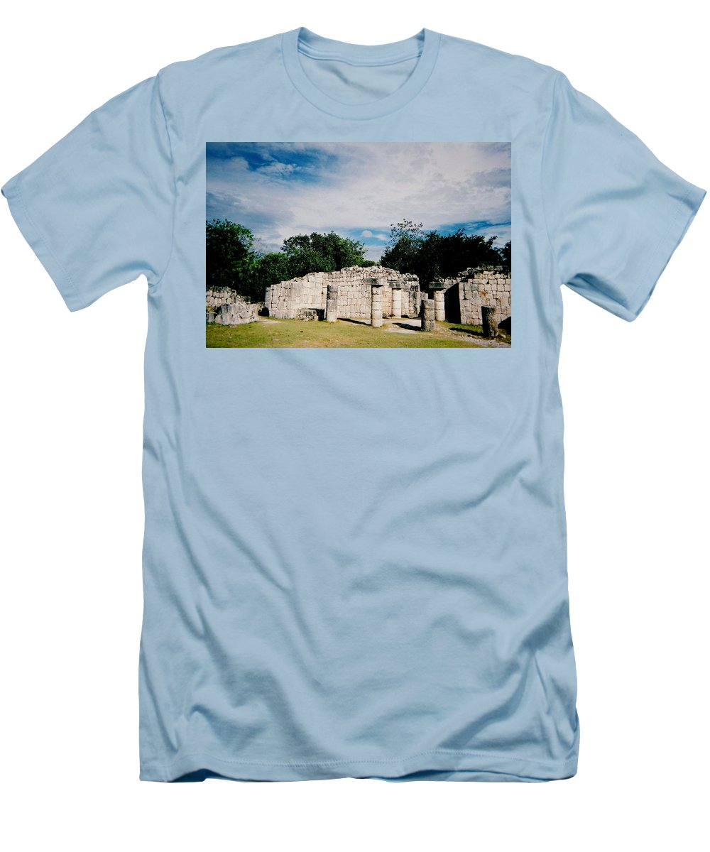 Chitchen Itza Men's T-Shirt (Athletic Fit) featuring the photograph Chichen Itza 2 by Anita Burgermeister