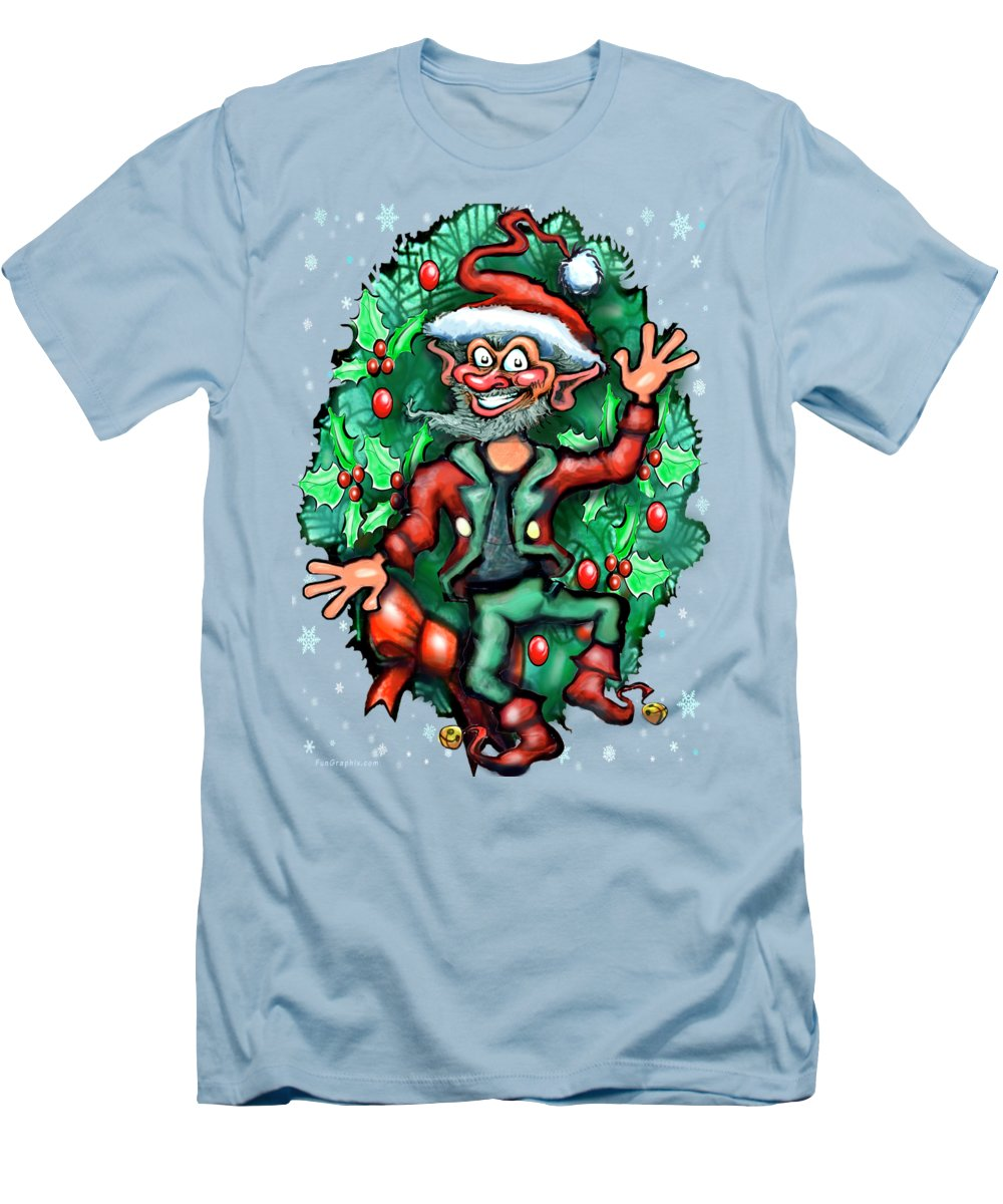Christmas Men's T-Shirt (Athletic Fit) featuring the digital art Christmas Elf by Kevin Middleton