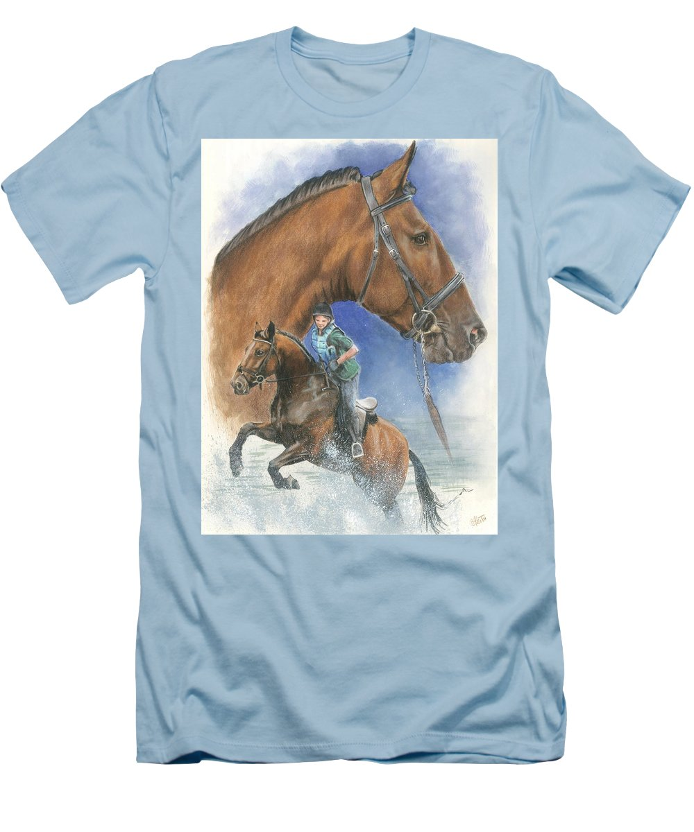 Equus Men's T-Shirt (Athletic Fit) featuring the mixed media Cleveland Bay by Barbara Keith