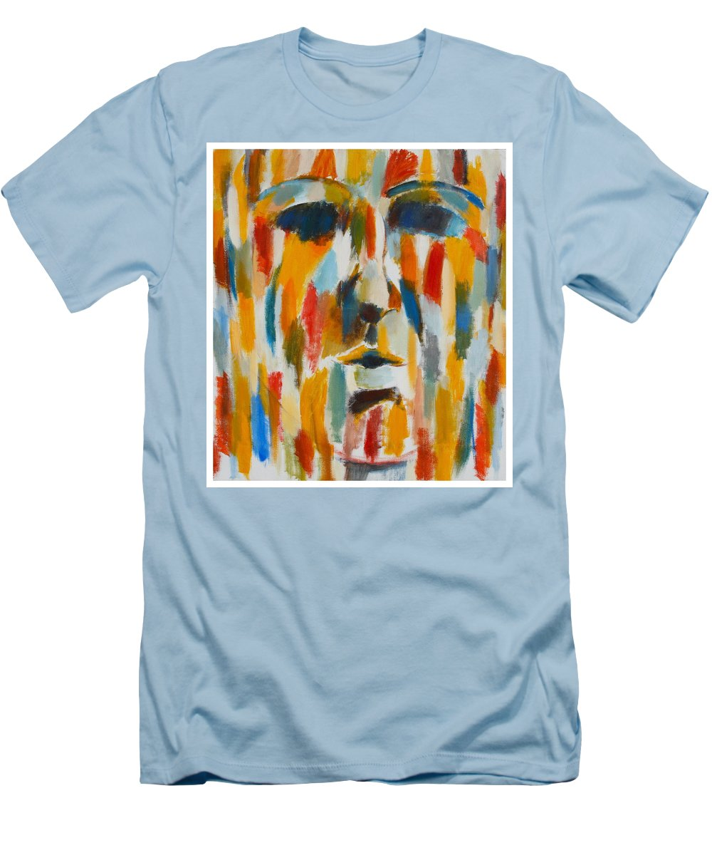 Yellow Men's T-Shirt (Athletic Fit) featuring the painting Color Blind by Habib Ayat