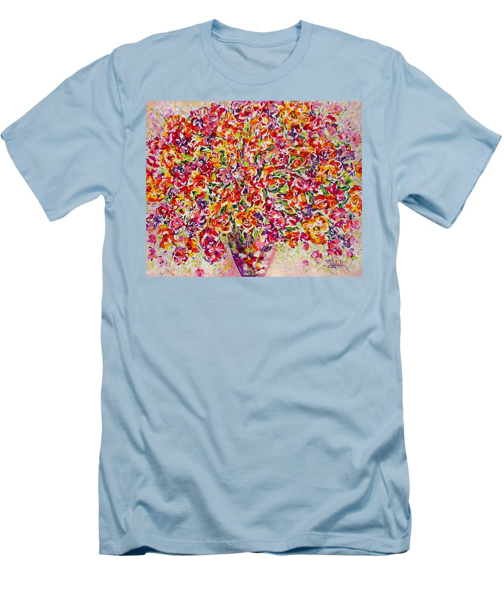 Framed Prints Men's T-Shirt (Athletic Fit) featuring the painting Colorful Organza by Natalie Holland