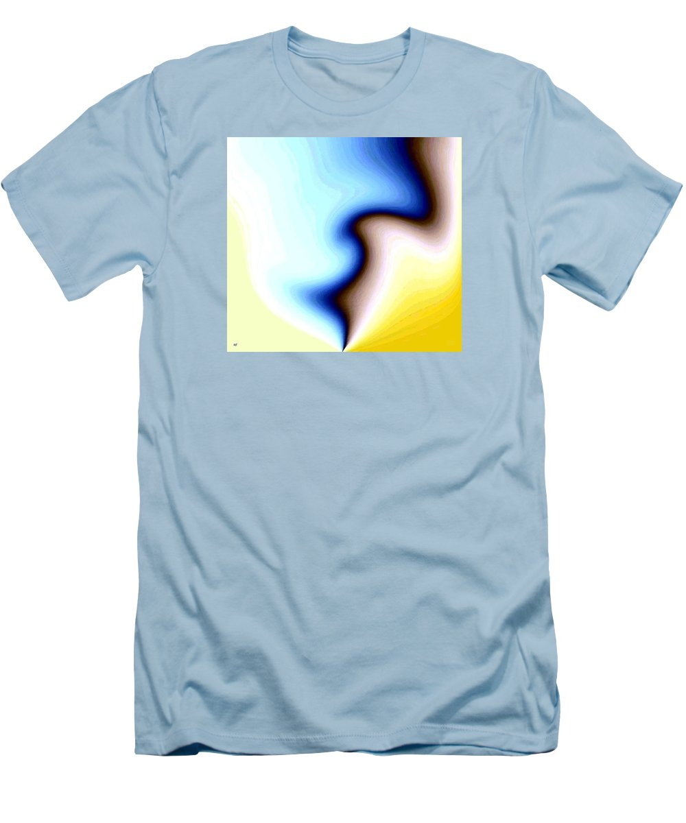 #faceprofileabstract Men's T-Shirt (Athletic Fit) featuring the digital art Conceptual 7 by Will Borden
