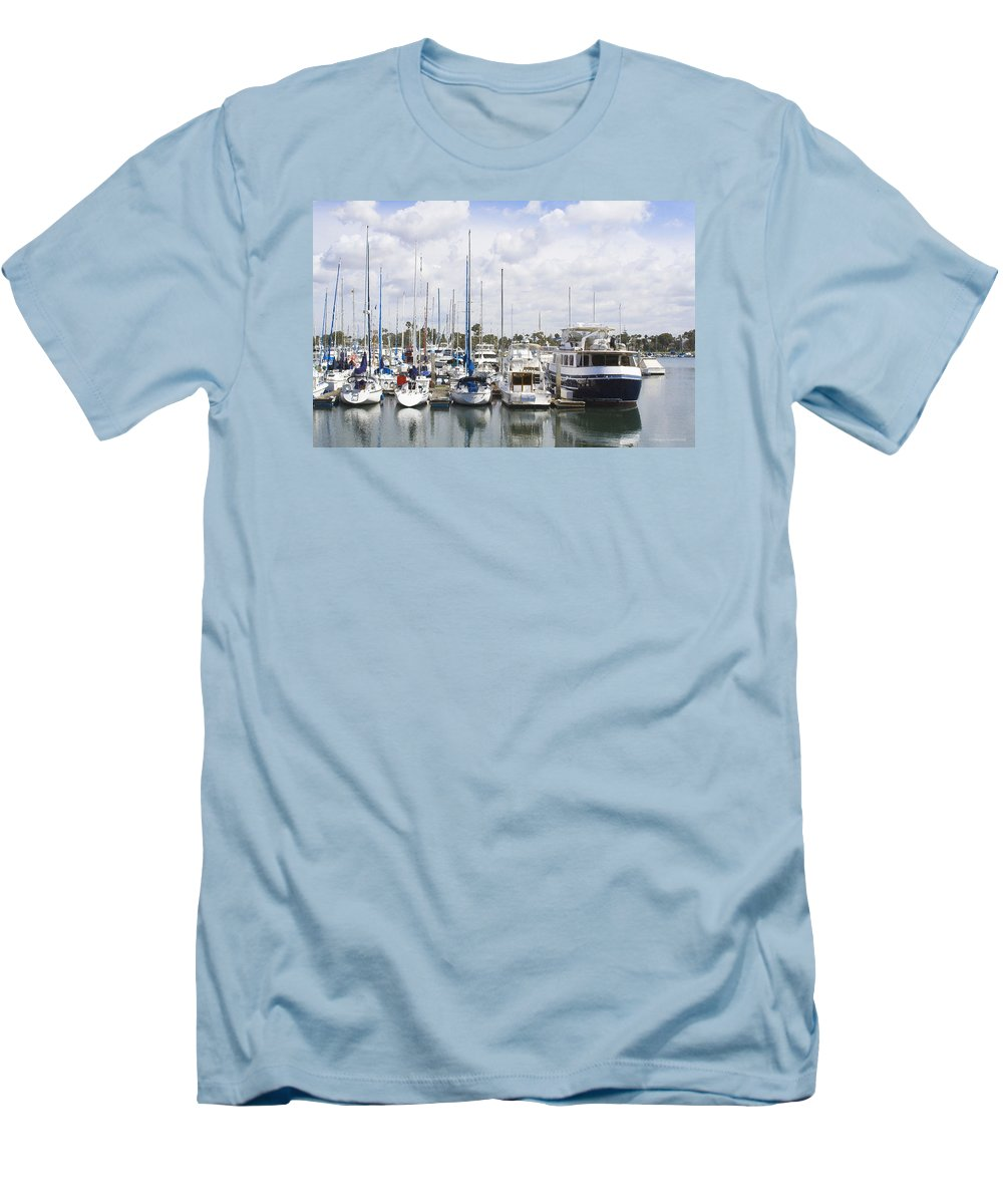 Coronado Men's T-Shirt (Athletic Fit) featuring the photograph Coronado Boats II by Margie Wildblood