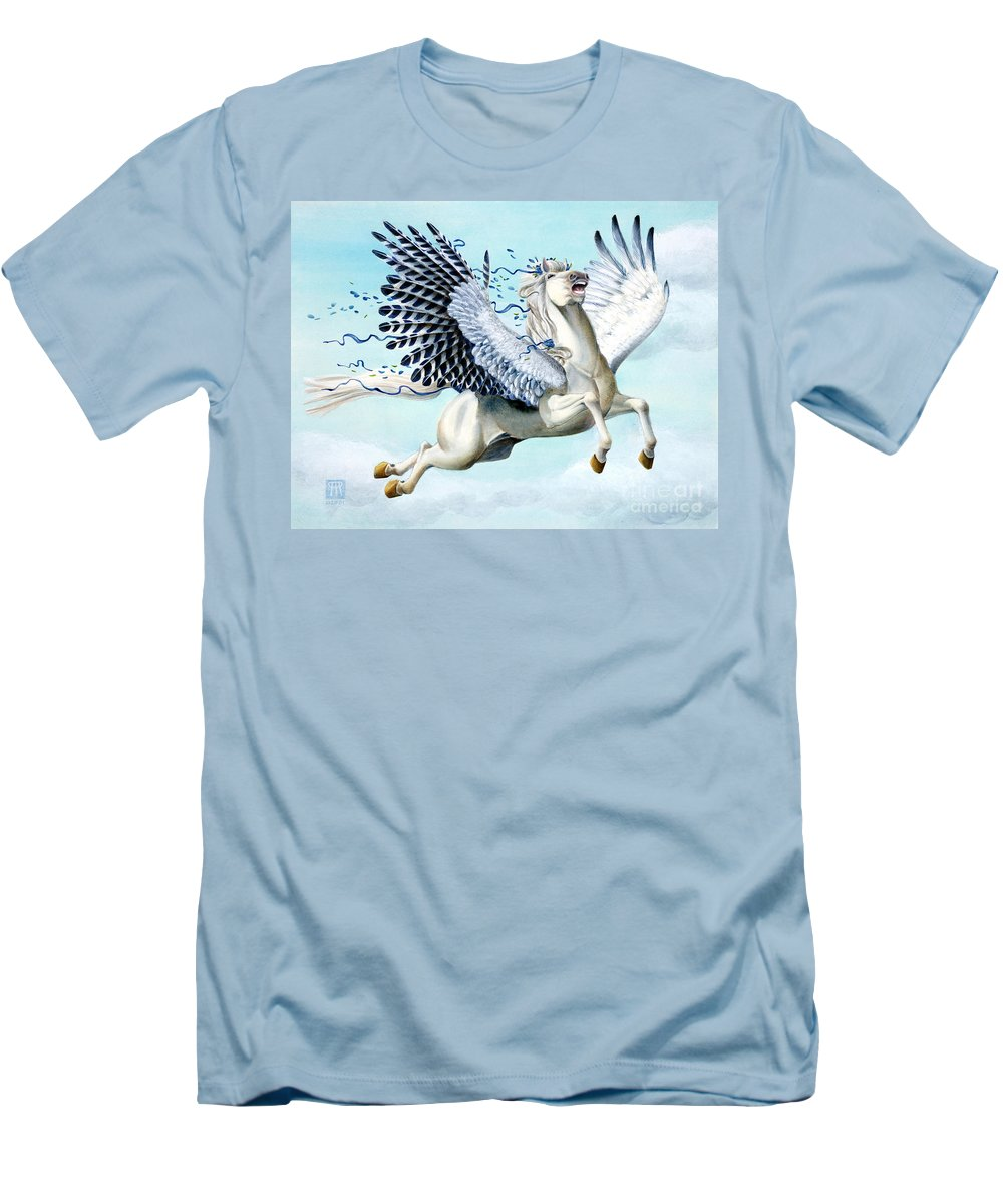 Artwork Men's T-Shirt (Athletic Fit) featuring the painting Cory Pegasus by Melissa A Benson