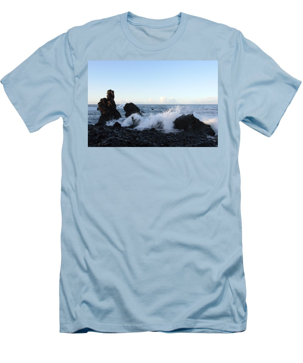 Waves Men's T-Shirt (Athletic Fit) featuring the photograph Crashing Wave by Phil Crean