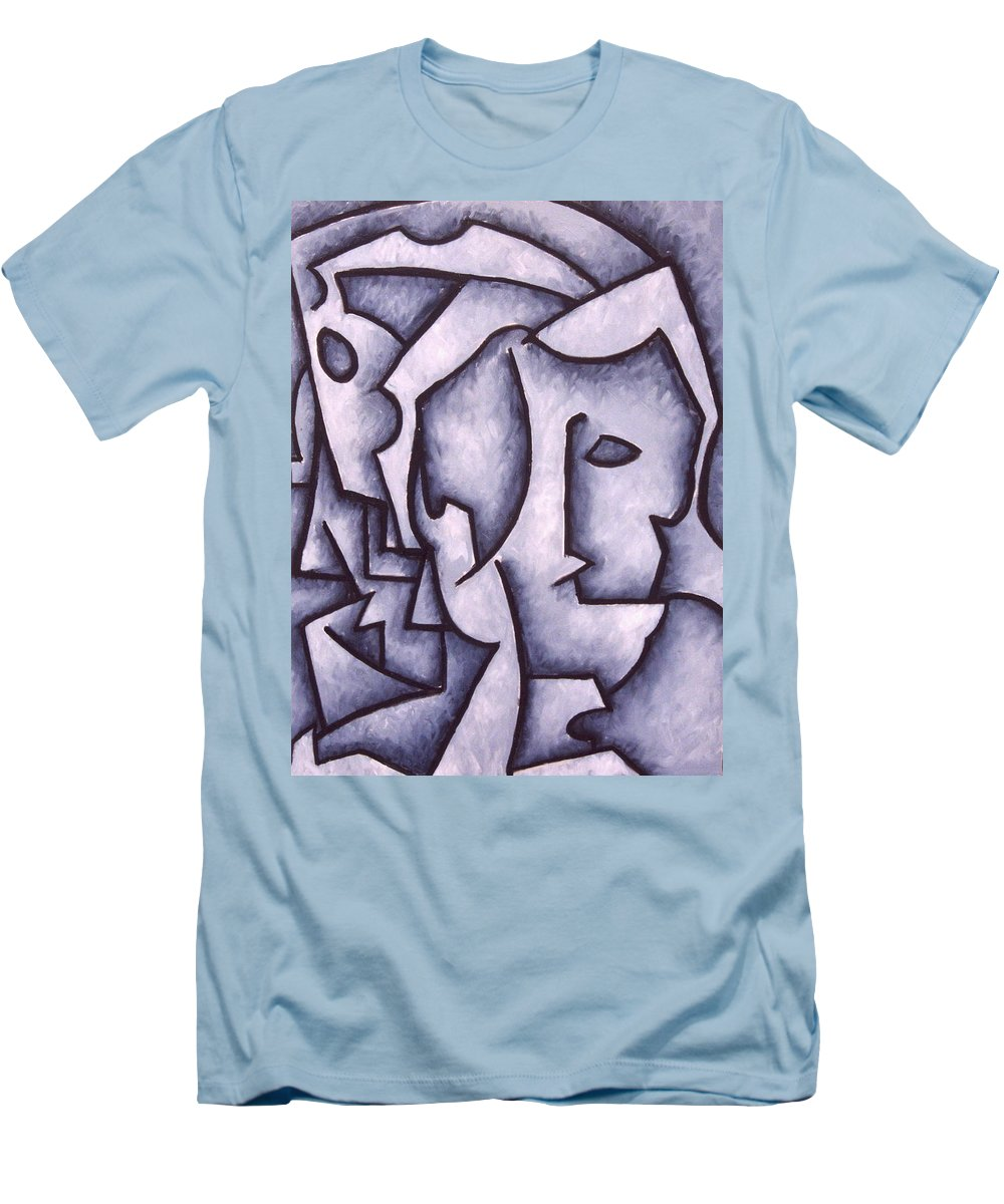 Abstract Men's T-Shirt (Athletic Fit) featuring the painting David by Thomas Valentine