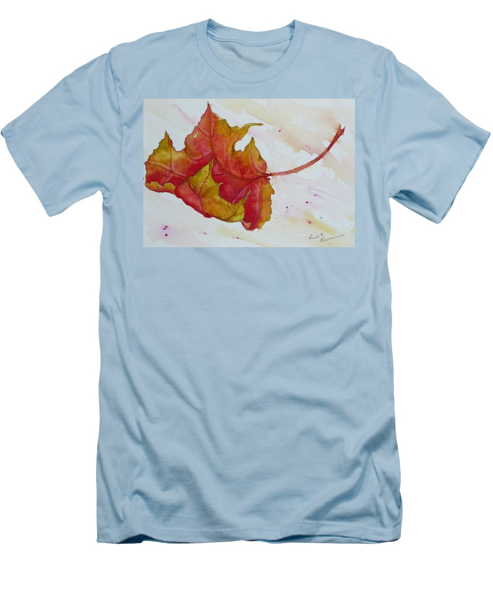 Fall Men's T-Shirt (Athletic Fit) featuring the painting Descending by Ruth Kamenev