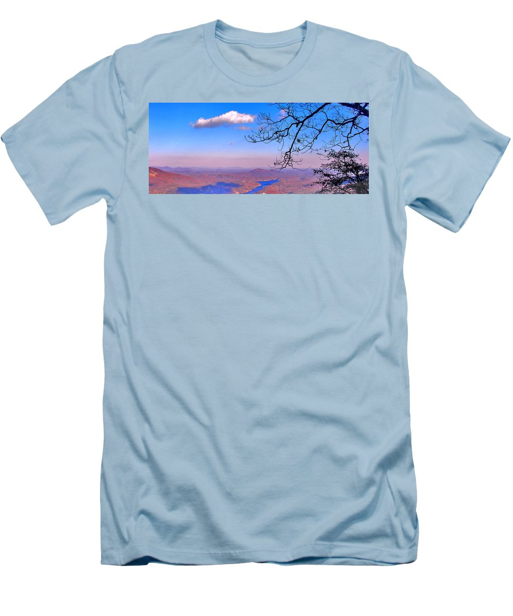 Landscape Men's T-Shirt (Athletic Fit) featuring the photograph Detail From Reaching For A Cloud by Steve Karol