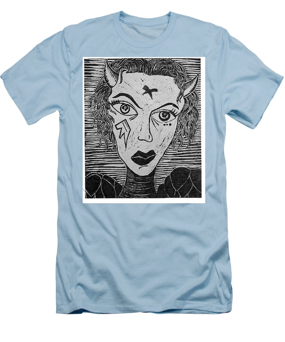 Prints Men's T-Shirt (Athletic Fit) featuring the print Devil Print Two Out Of Five by Thomas Valentine