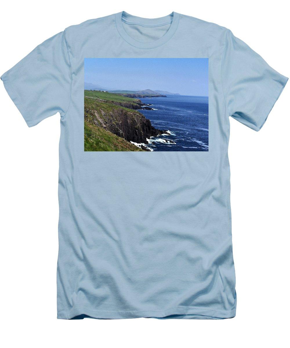 Irish Men's T-Shirt (Athletic Fit) featuring the photograph Dingle Coast Near Fahan Ireland by Teresa Mucha