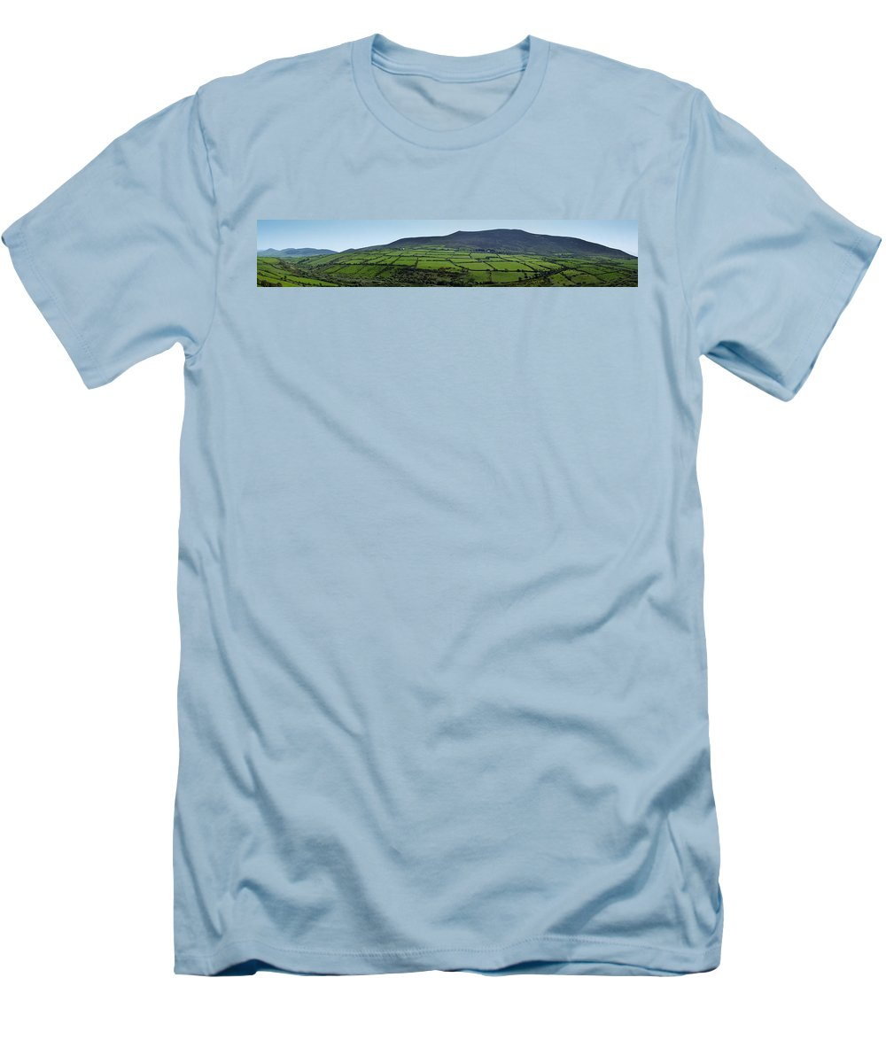 Irish Men's T-Shirt (Athletic Fit) featuring the photograph Dingle Peninsula Panorama Ireland by Teresa Mucha