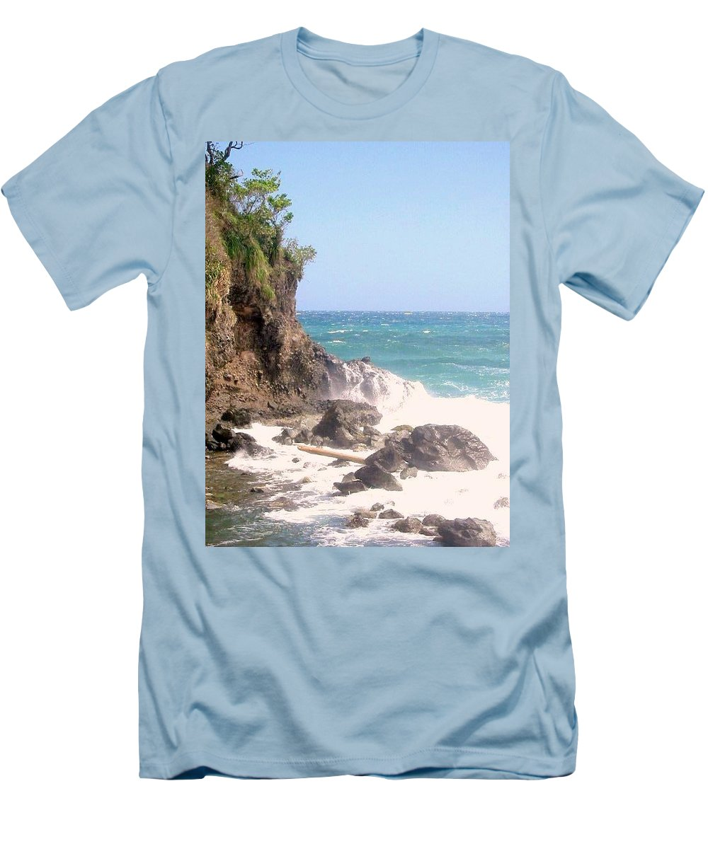 Dominica Men's T-Shirt (Athletic Fit) featuring the photograph Dominica North Atlantic Coast by Ian MacDonald