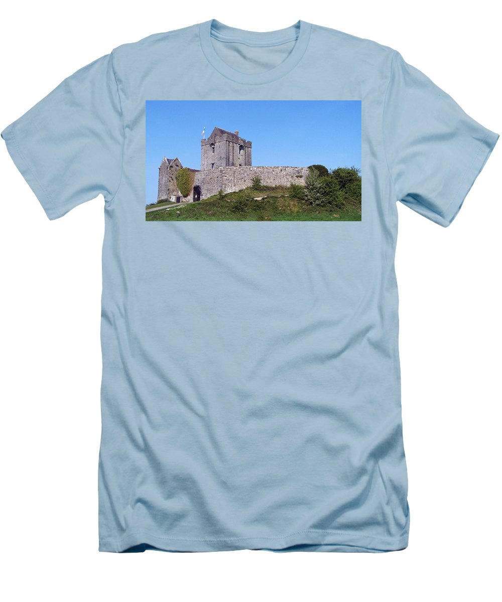 Irish Men's T-Shirt (Athletic Fit) featuring the photograph Dunguaire Castle Kinvara Ireland by Teresa Mucha