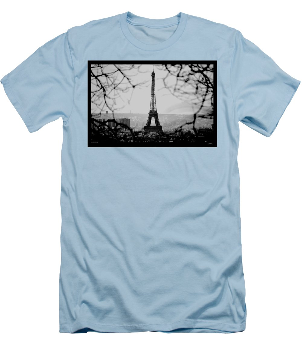 Eiffel Men's T-Shirt (Athletic Fit) featuring the photograph Eiffel Eyeful by J Todd