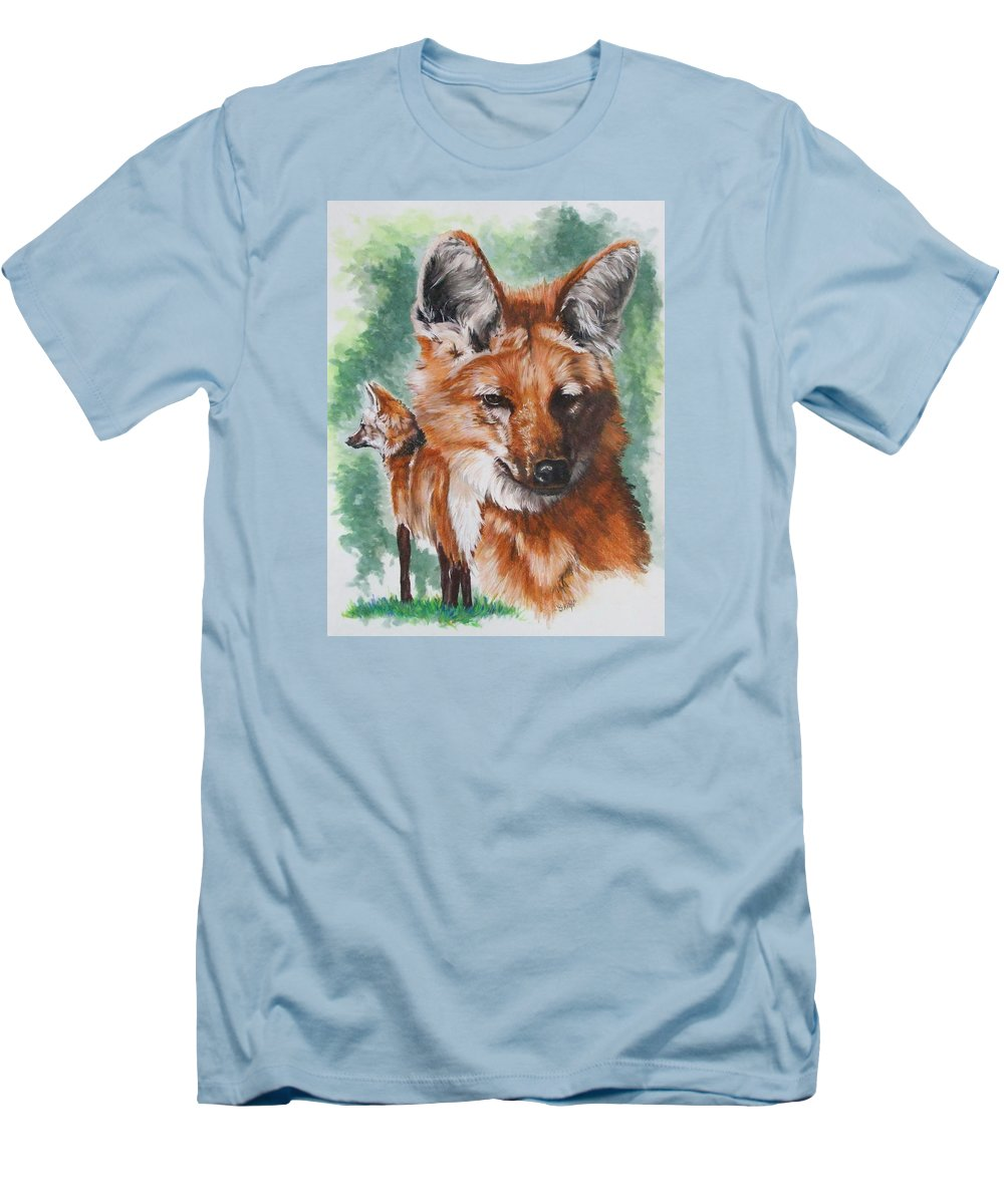 Canine Men's T-Shirt (Athletic Fit) featuring the mixed media Elegant by Barbara Keith