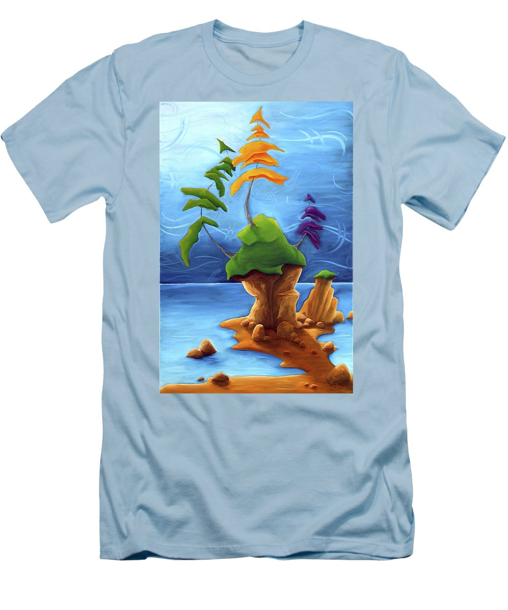 Landscape Men's T-Shirt (Athletic Fit) featuring the painting Enraptured by Richard Hoedl