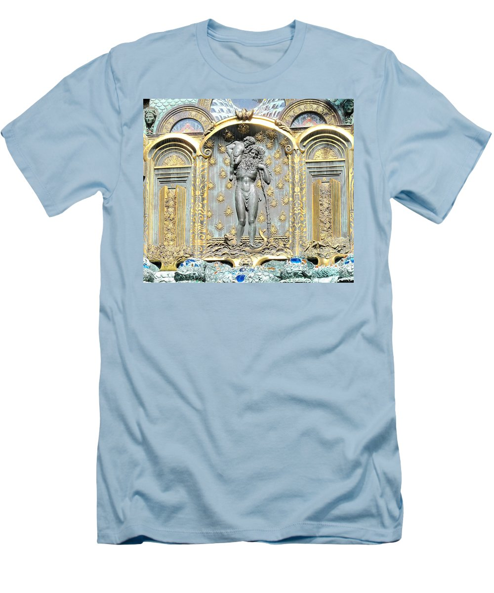 Ernst Men's T-Shirt (Athletic Fit) featuring the photograph Ernst Fuchs Mural by Ian MacDonald