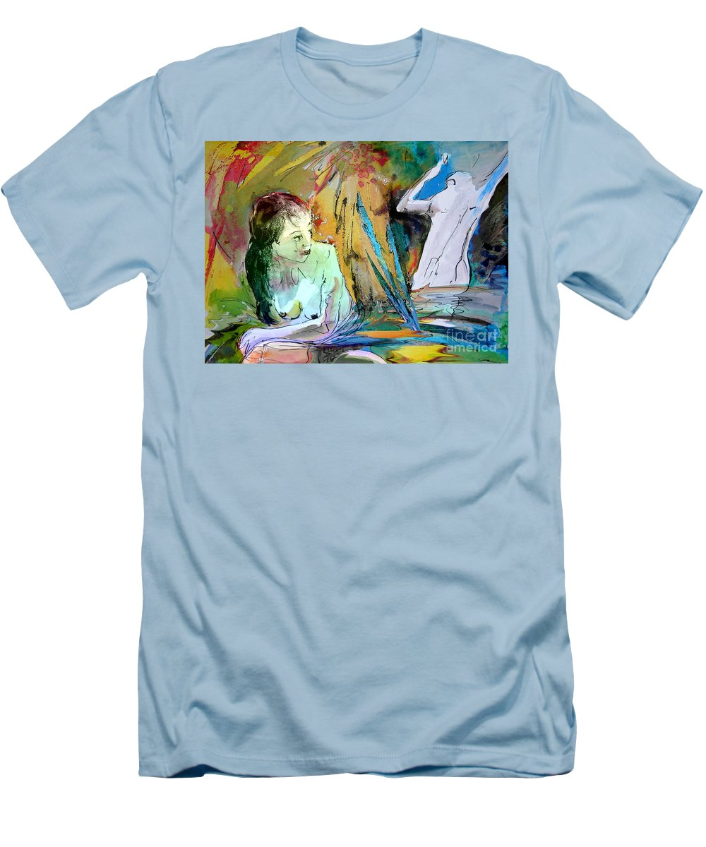 Miki Men's T-Shirt (Athletic Fit) featuring the painting Eroscape 15 1 by Miki De Goodaboom