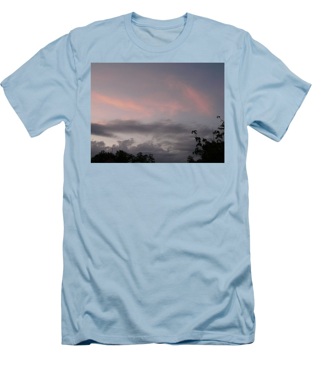 Sky Men's T-Shirt (Athletic Fit) featuring the photograph Evening Sky by Valerie Ornstein