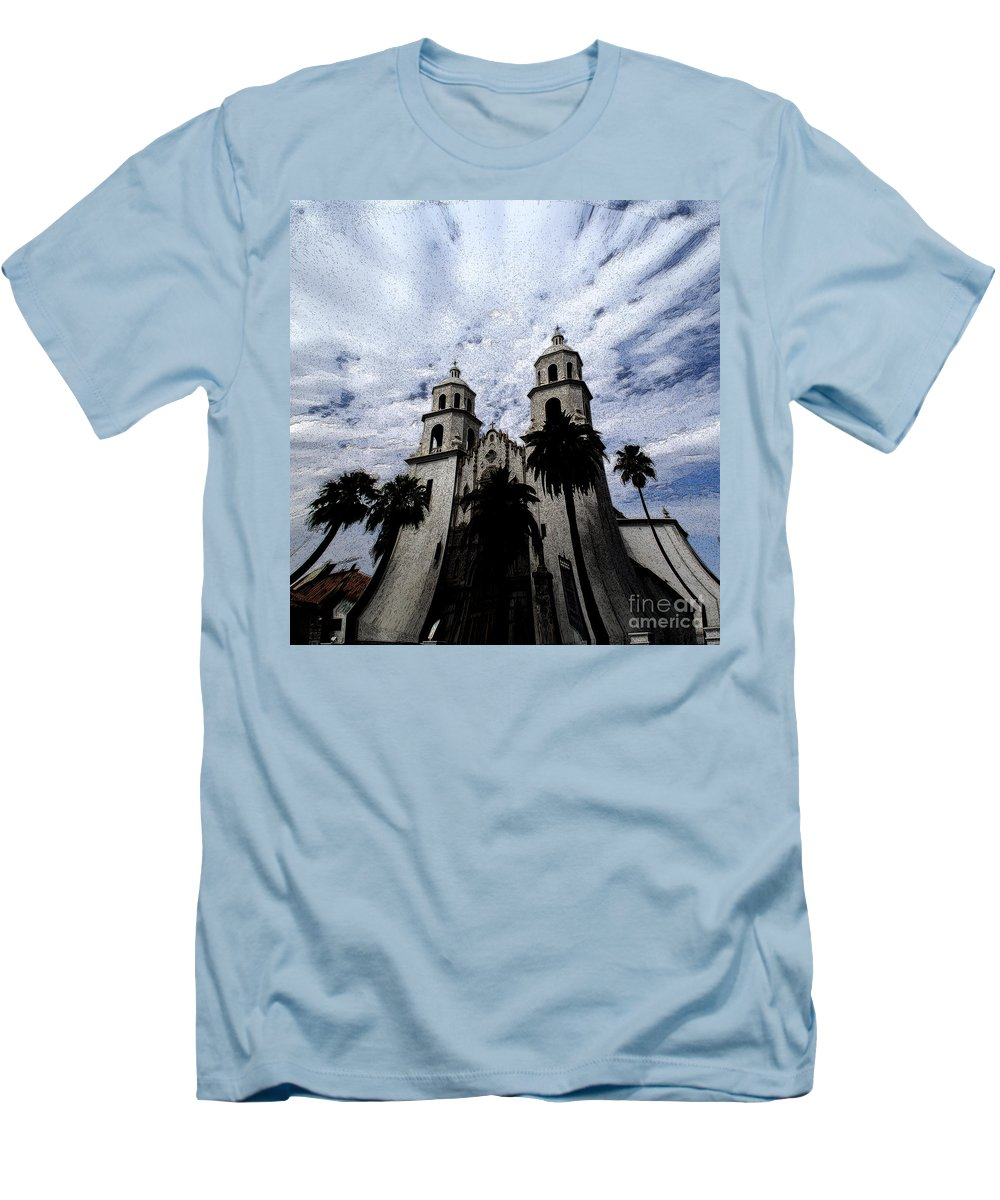Cathedral Men's T-Shirt (Athletic Fit) featuring the photograph Faith Arizona by Linda Shafer