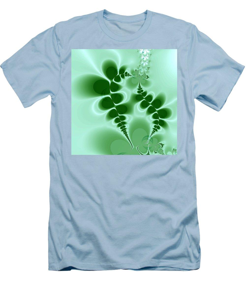 Digital Art Men's T-Shirt (Athletic Fit) featuring the digital art Ferns by Amanda Moore