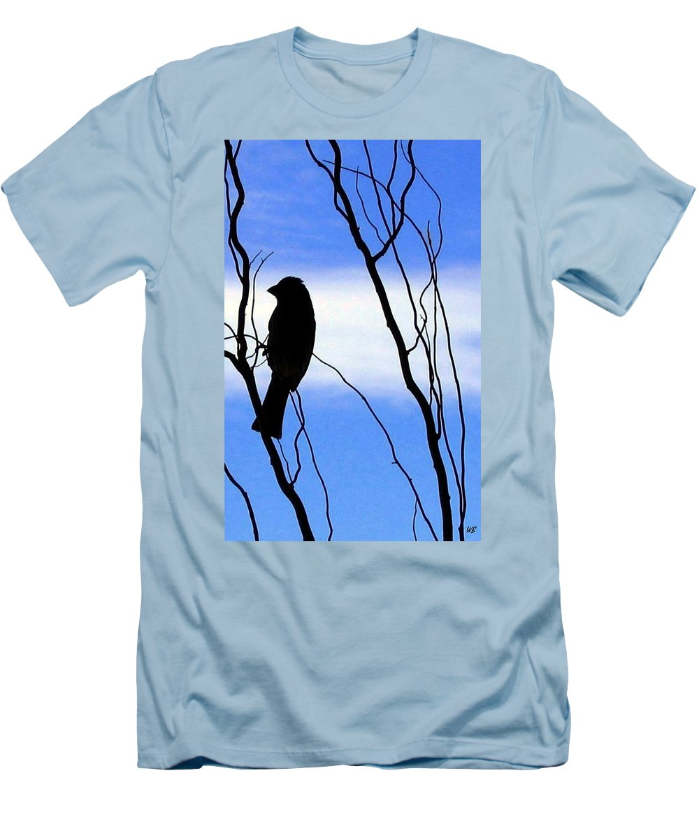 Finch Men's T-Shirt (Athletic Fit) featuring the photograph Finch Silhouette 2 by Will Borden