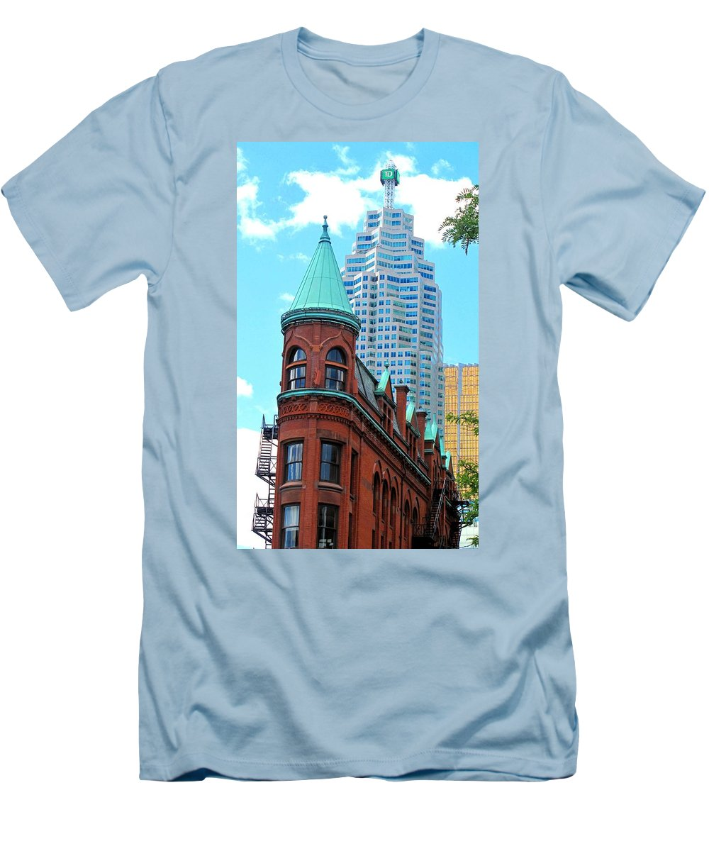 Flat Iron Building Men's T-Shirt (Athletic Fit) featuring the photograph Flat Iron Building by Ian MacDonald