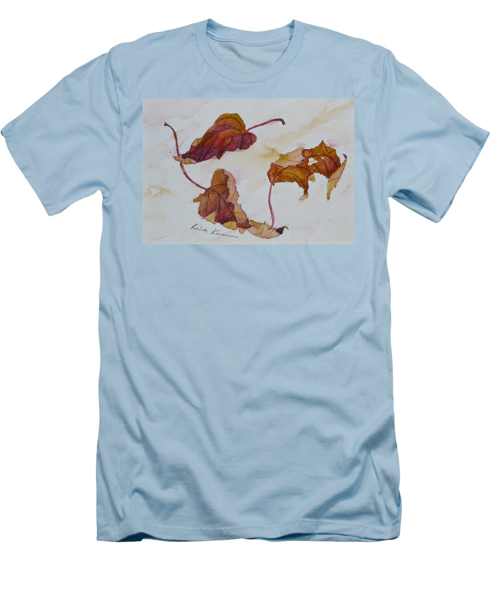 Fall Men's T-Shirt (Athletic Fit) featuring the painting Floating by Ruth Kamenev