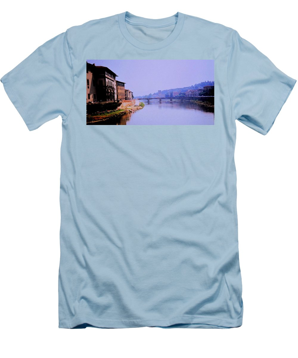 Florence Men's T-Shirt (Athletic Fit) featuring the photograph Florence by Ian MacDonald