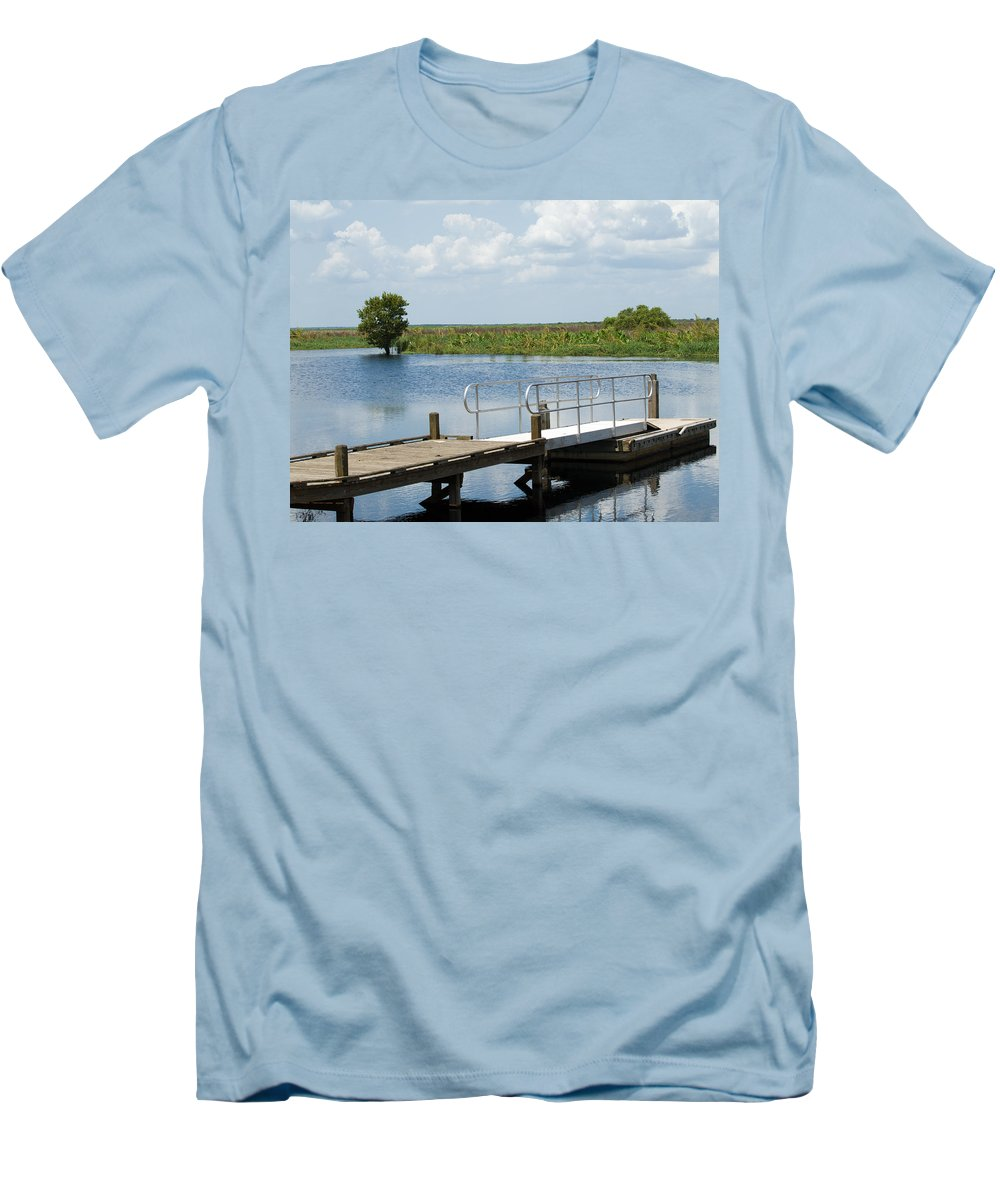 Florida; River; St; Johns; Saint; John; Flow; Flows; North; South;direction; Flowing; Current; Backw Men's T-Shirt (Athletic Fit) featuring the photograph Florida Backwater by Allan Hughes