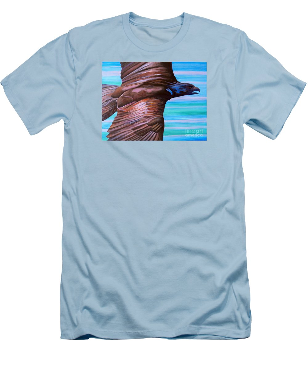 Eagle Men's T-Shirt (Athletic Fit) featuring the painting Fly Like An Eagle by Brian Commerford