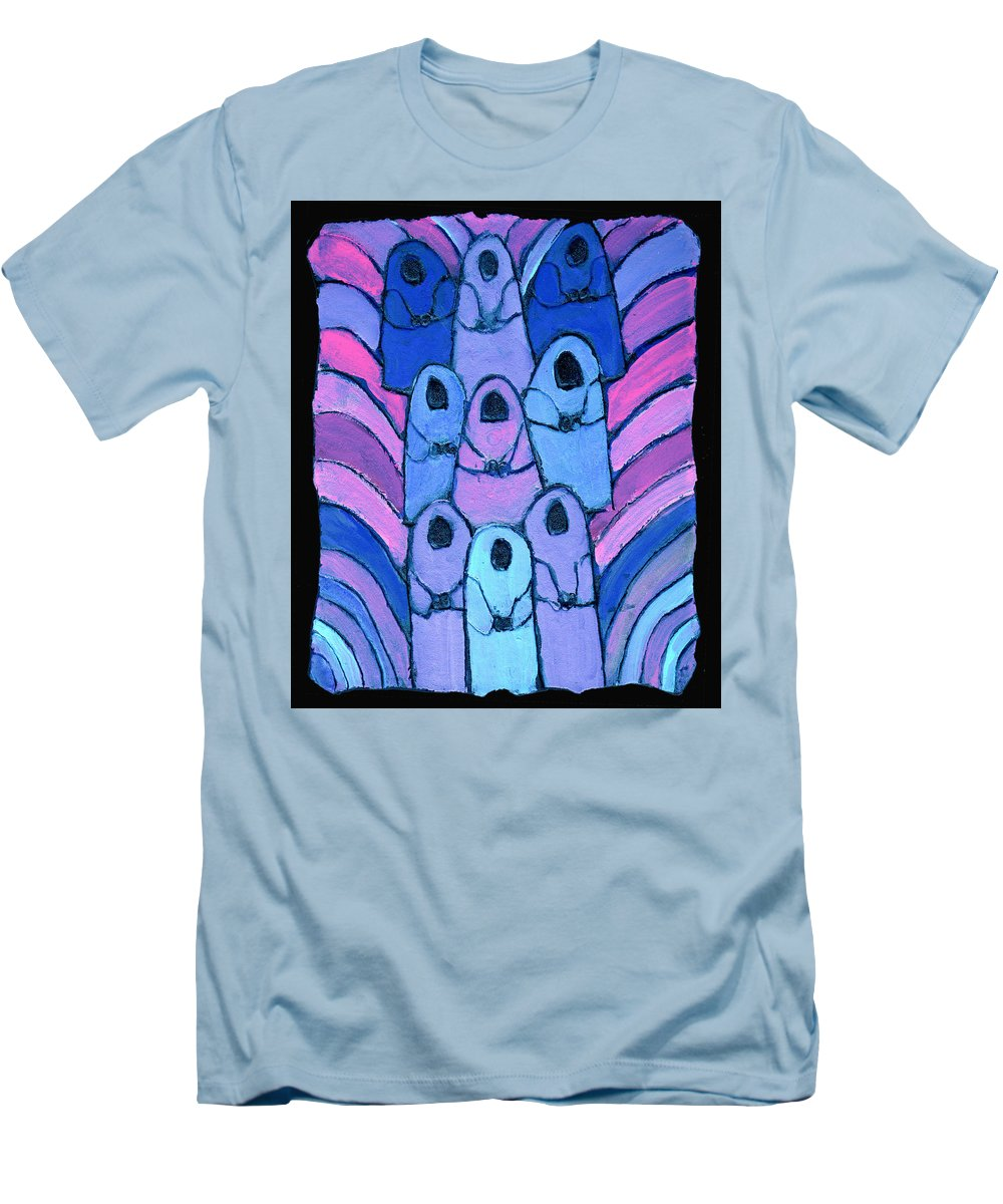 Abstract Men's T-Shirt (Athletic Fit) featuring the painting Following In The Footsteps by Wayne Potrafka