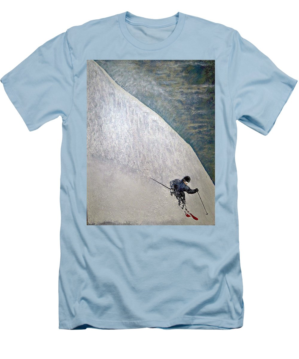 Landscape Men's T-Shirt (Athletic Fit) featuring the painting Form by Michael Cuozzo