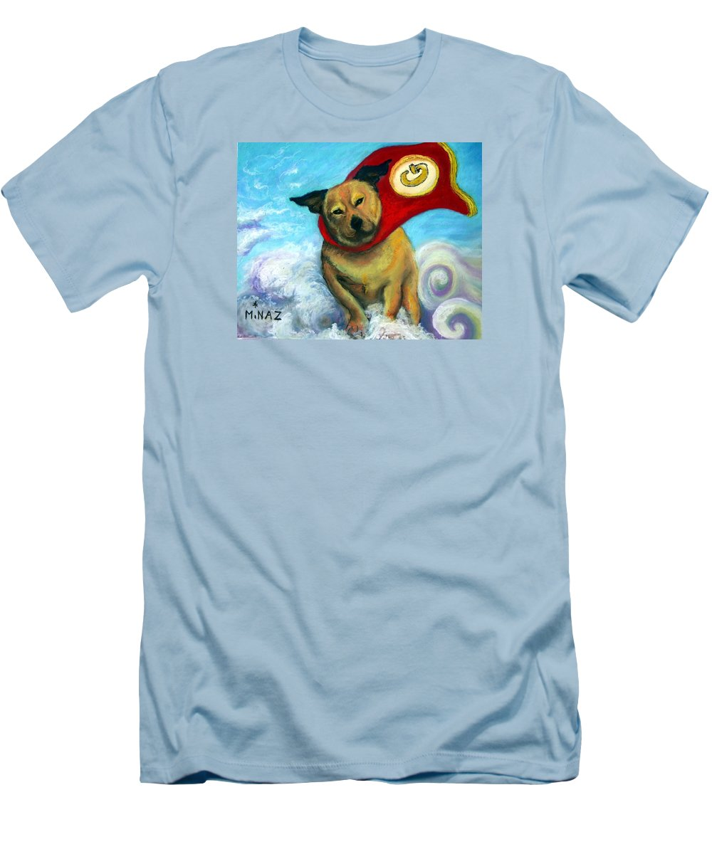 Dog Men's T-Shirt (Athletic Fit) featuring the painting Gizmo The Great by Minaz Jantz