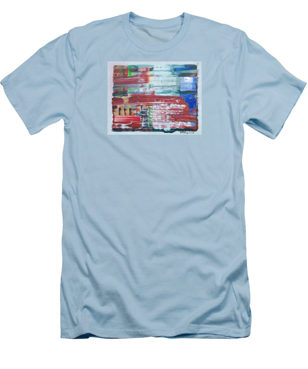 Impressionism Men's T-Shirt (Athletic Fit) featuring the painting Glass Blocks by J R Seymour