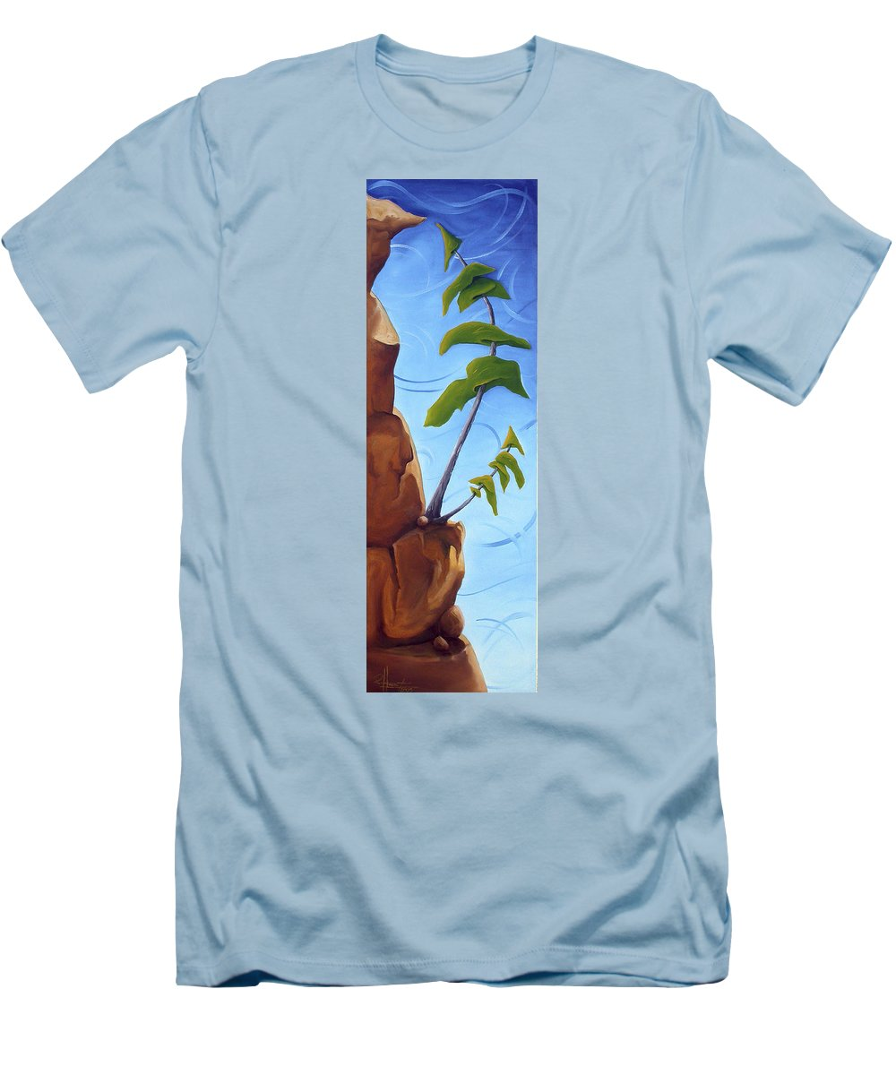 Landscape Men's T-Shirt (Athletic Fit) featuring the painting Goals by Richard Hoedl