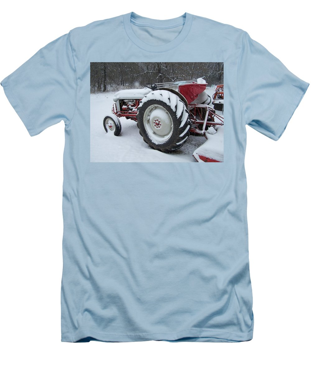 Tractor Men's T-Shirt (Athletic Fit) featuring the photograph Herman by Gale Cochran-Smith
