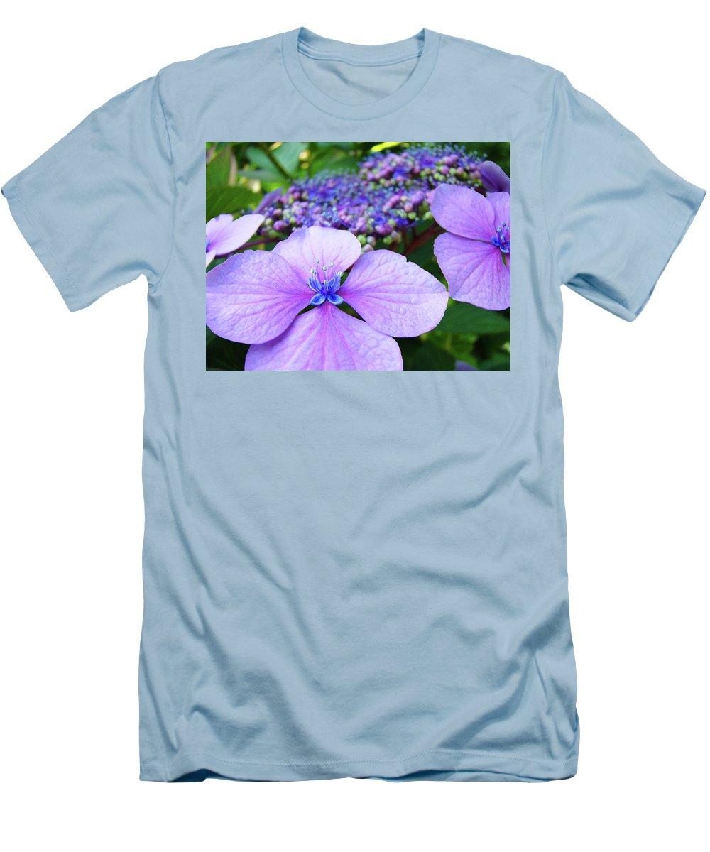 Hydrangea Men's T-Shirt (Athletic Fit) featuring the photograph Hydrangea Flowers Art Prints Hydrangea Garden Giclee Art Prints Baslee Troutman by Baslee Troutman