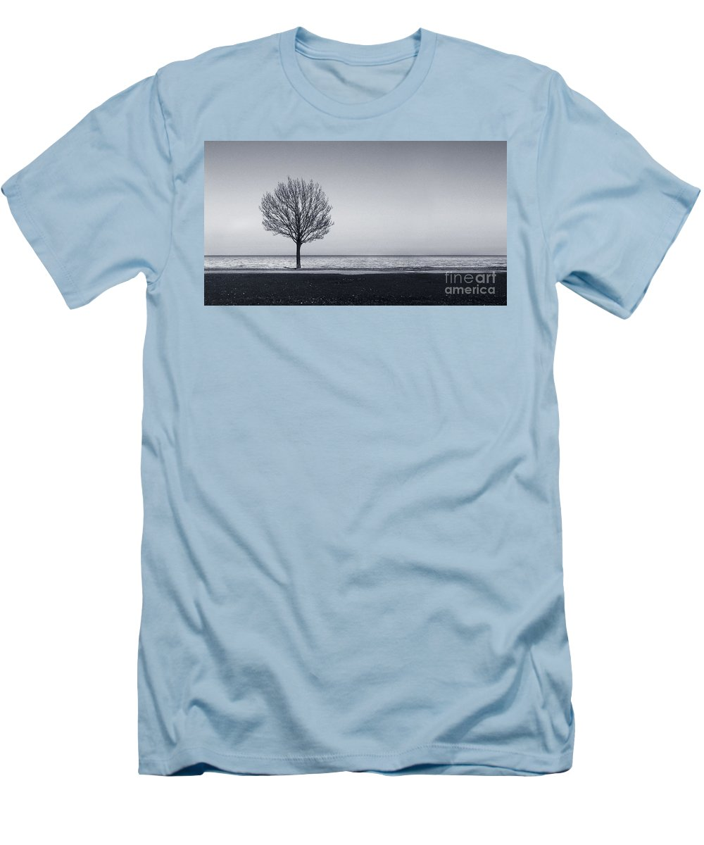 Tree Men's T-Shirt (Athletic Fit) featuring the photograph I Didnt Hear You Leaving by Dana DiPasquale