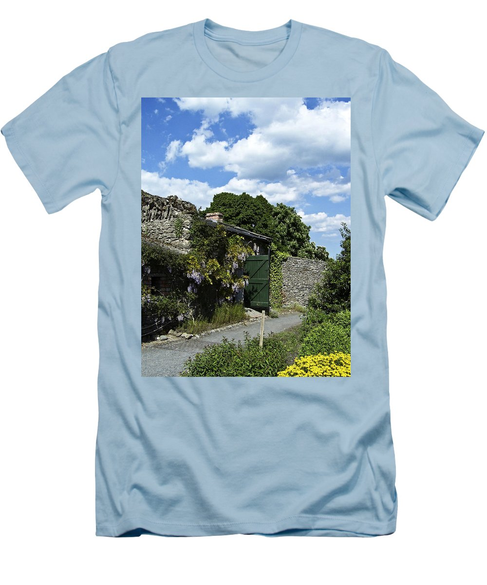 Irish Men's T-Shirt (Athletic Fit) featuring the photograph Irish Garden County Clare by Teresa Mucha