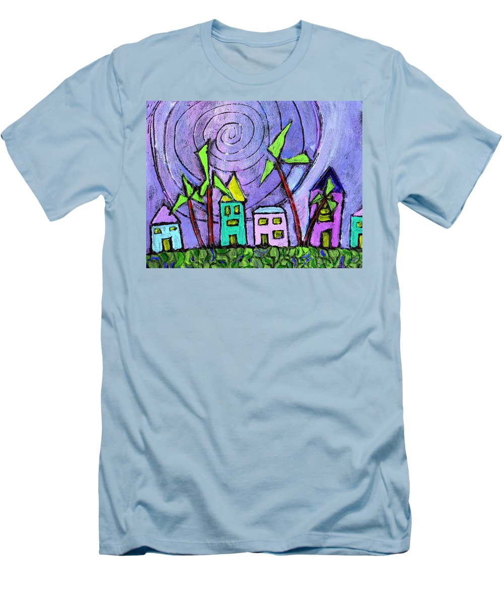 Island Men's T-Shirt (Athletic Fit) featuring the painting Island Dreams by Wayne Potrafka