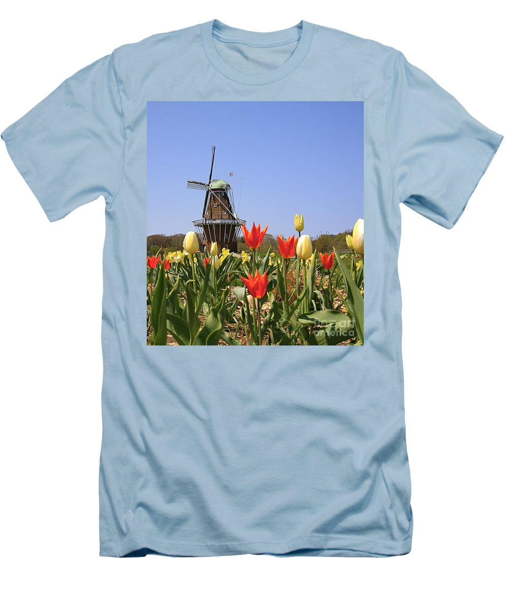 Tulips Men's T-Shirt (Athletic Fit) featuring the photograph Its Tulip Time by Robert Pearson