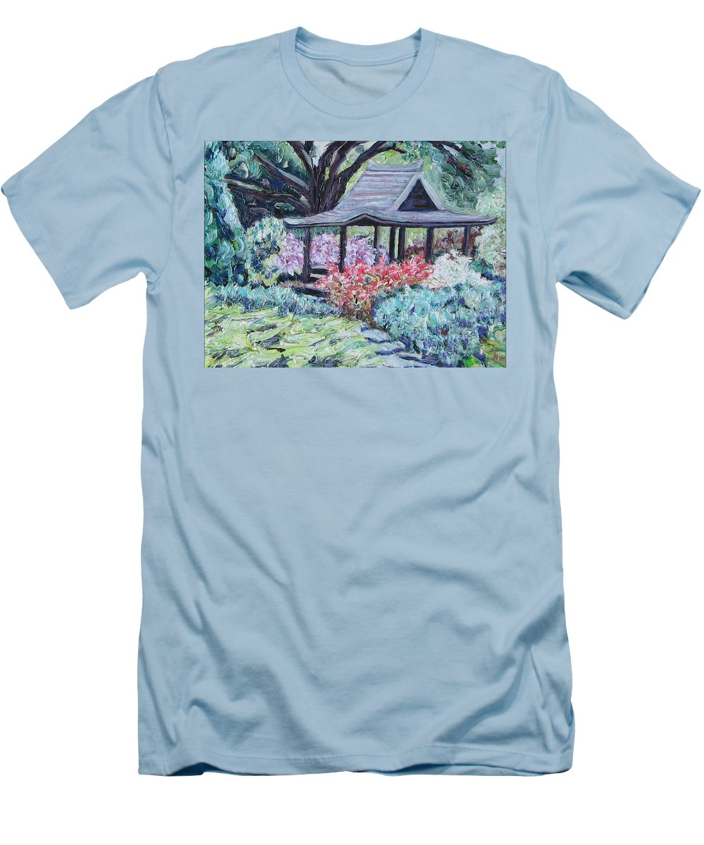 Garden Men's T-Shirt (Athletic Fit) featuring the painting Japanese Garden by Richard Nowak