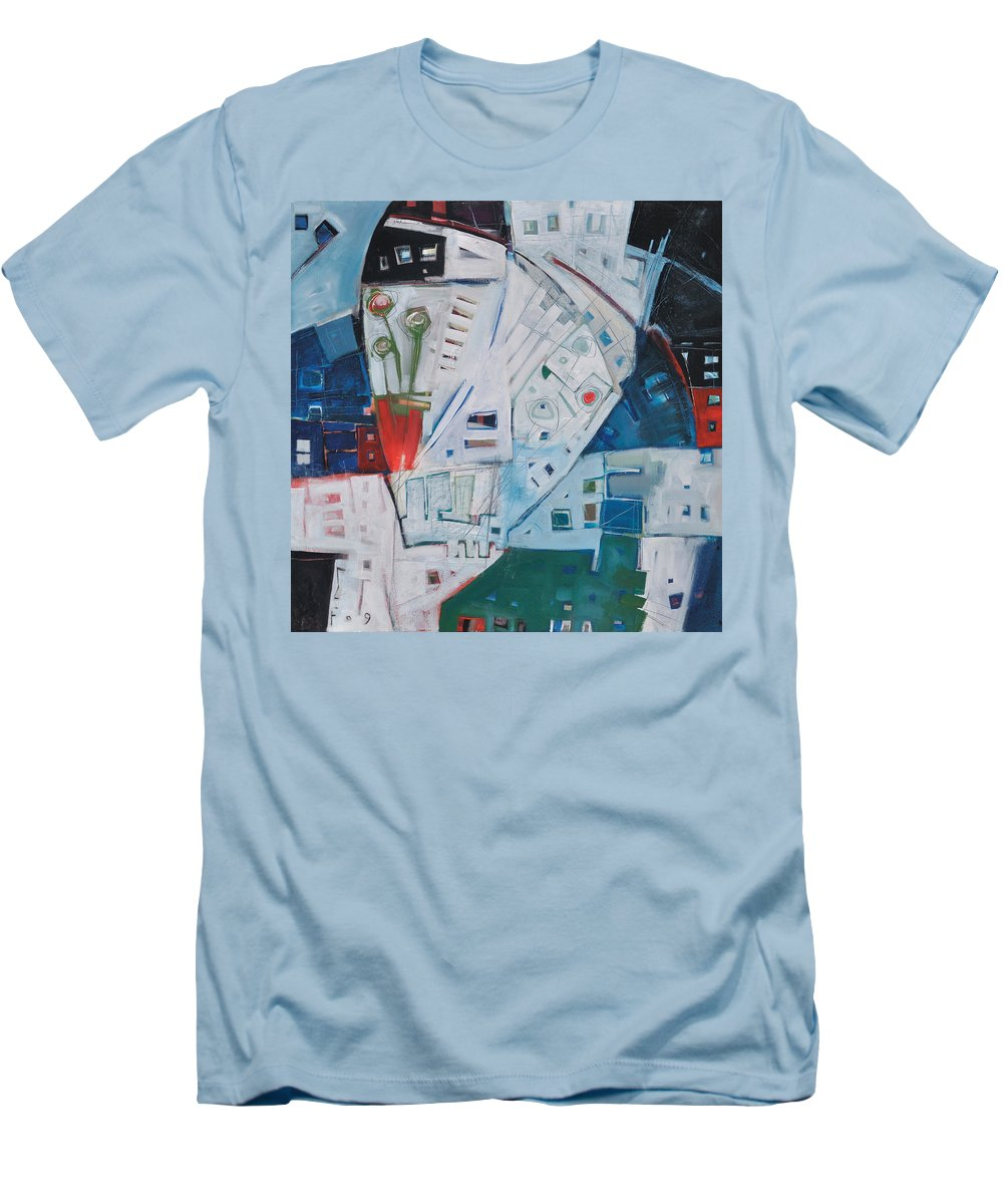 Jazz Men's T-Shirt (Athletic Fit) featuring the painting Jazz In Bloom by Tim Nyberg