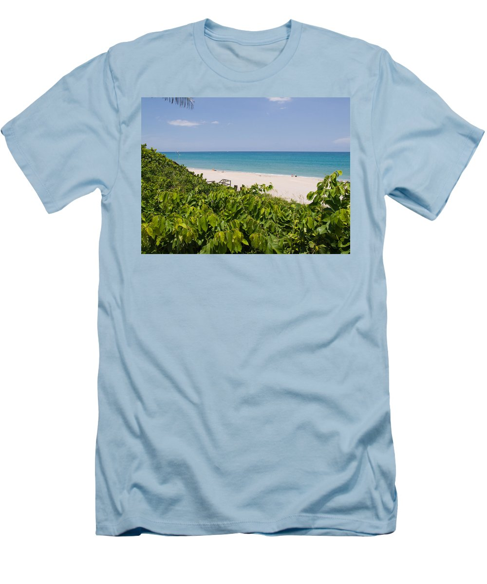 Juno; Florida; Loxahatchee; River; Jupiter; Inlet; Swim; Swimming; Children; Girl; Boy; Woman; Man; Men's T-Shirt (Athletic Fit) featuring the photograph Juno Beach In Florida by Allan Hughes